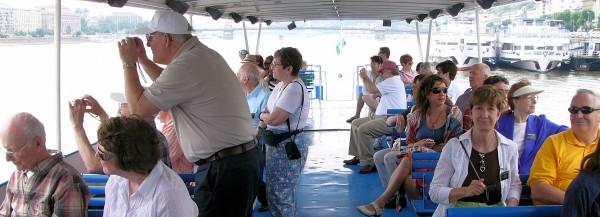 Boat on Danube to Szentendren