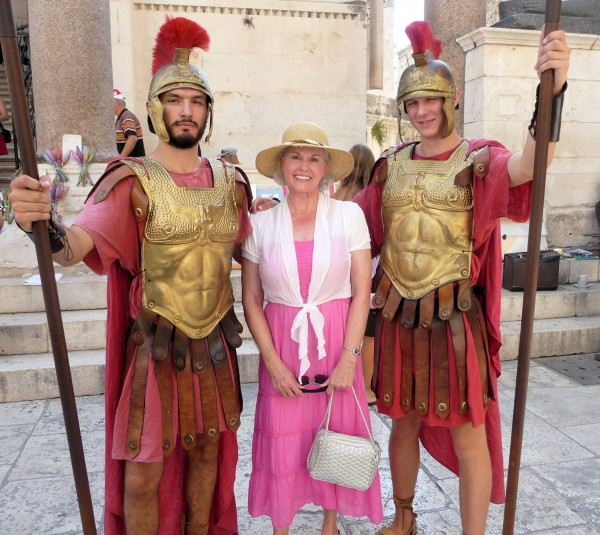 Brenda with Roman Soldiers