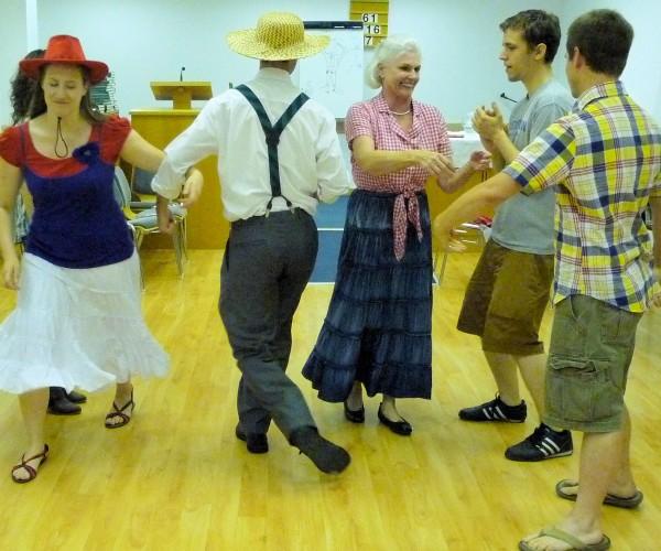 Dancing the 'Virginia Reel'