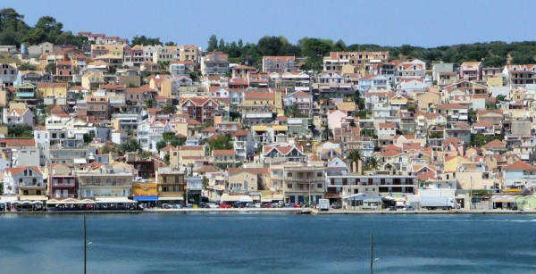 Houses Overlooking the Inlet in Greece