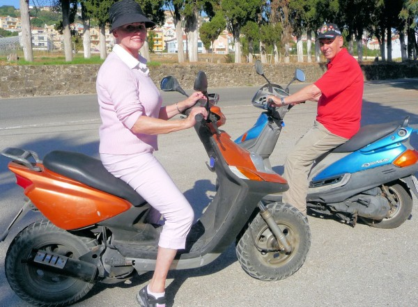 On Scooters in Greece