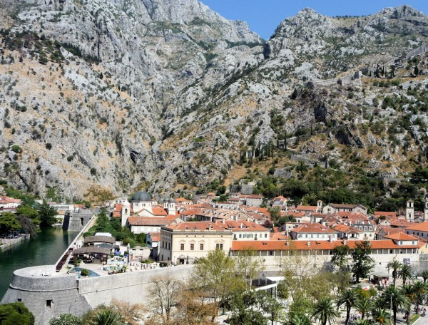 Kotor Montenegro - Town and Wall