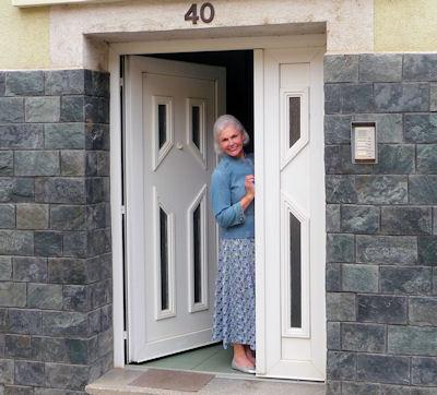 Brenda at Outside Door