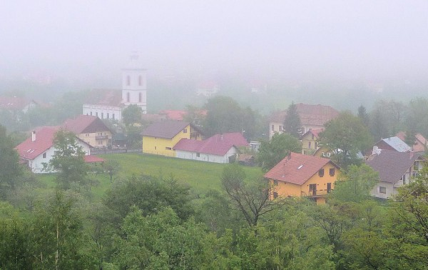 Foggy Village of Bran